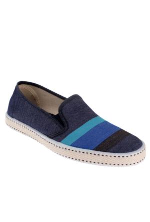 Frau Stripe 38J5 Erkek Ayakkabı Blu