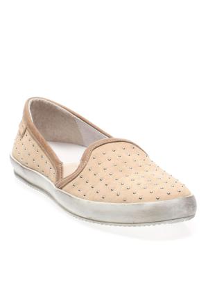 Frau Sabbia 40G2 Suede Metal Kadın Ayakkabı Krem
