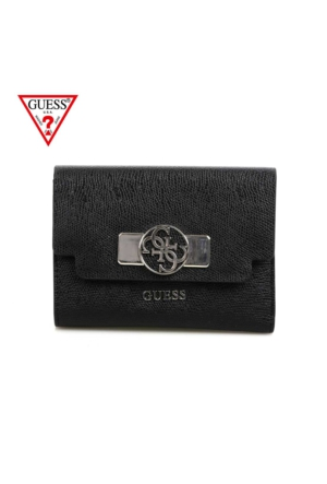 Guess Swvg45 66670 Cynthia Slg Medium Zip Around Black Cüzdan