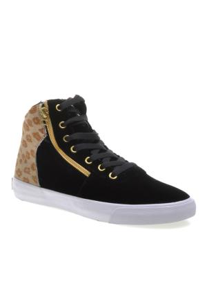 Supra Corner Womens Cuttler Sw35007 Kadın Ayakkabı Black Cheetah Whıte