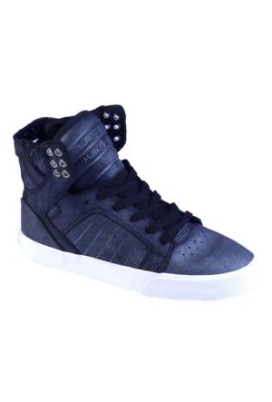 Supra Women-Skytop Sw18036 Kadın Ayakkabı Black Metallıc Whıte