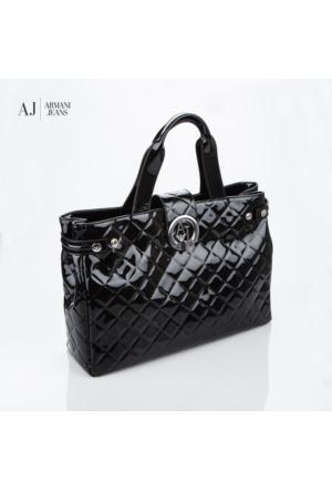Armani Jeans Çanta B5230v412 Armani Shopping Bag Nero - Black