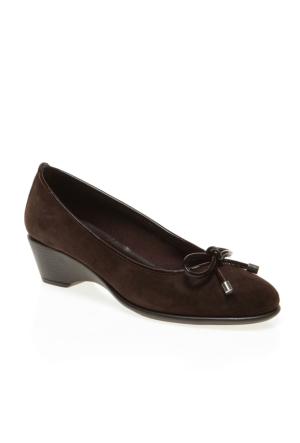 B1 Frau Velour 57 Kadın Ayakkabı Kahverengi
