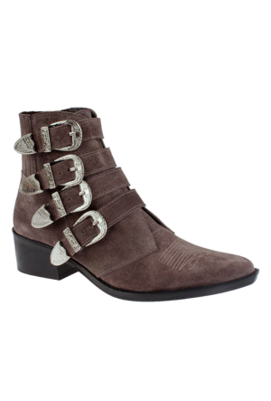John May Soil Suede İk-3200 Leather Kadın Bot Taba