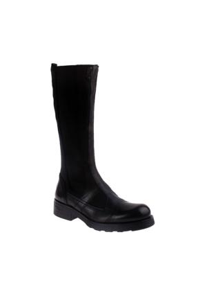 Oxs Stivale Zeland 9M1914D Kadın Siyah Çizme