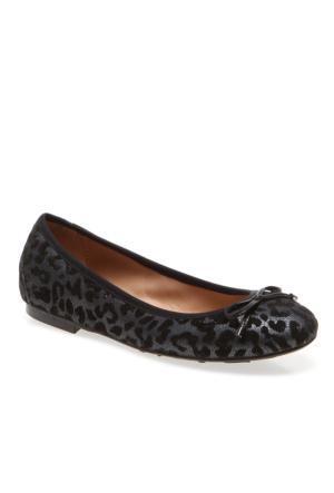 Petty Pretty Nana Leopard+Vitello 641541 Kadın Anthrezıte Babet