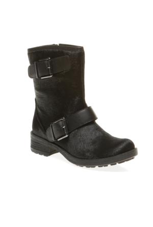 Sara Pretty Nana Cavallino+Vitello 724221 Kadın Ayakkabı Siyah