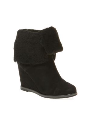 Manu Pretty Nana Cipro Shearling 760106 Kadın Ayakkabı Siyah