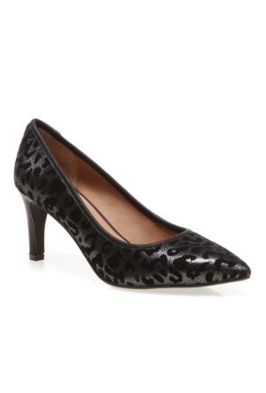 Manolo Pretty Nana Leopardo+Vitello 860241 Kadın Ayakkabı Anthrezıte