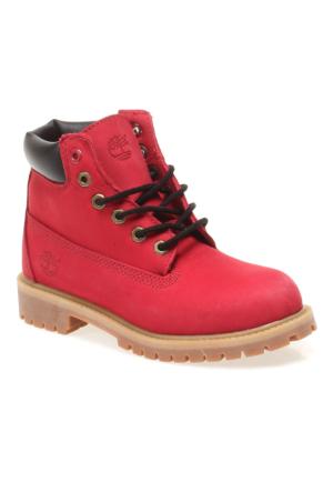 Timberland 6 in Premium Wp Boot 6578R Çocuk Bot Red Nubuck