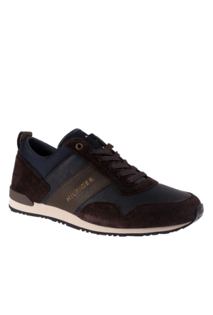 Tommy Hilfiger Fm56821679 403 Thf Sneakers M2285Axwell 11C2 Low Cut Midnight Coffeebean Ayakkabı