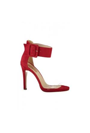 Elle Agradable Bayan Sandalet Kırmızı