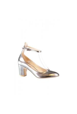 Elle Ada Bayan Ayakkabı Gümüş