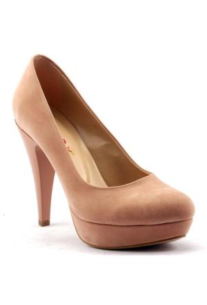 Paddy 2735 Platform İnce Topuk Stiletto Abiye Bayan Süet Ayakkabı