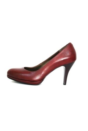 Akl Shoes Platformlu Bordo Ayakkabı