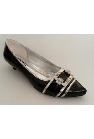 Punto 61307 Siyah Rugan Bayan Babet Ayakkabı