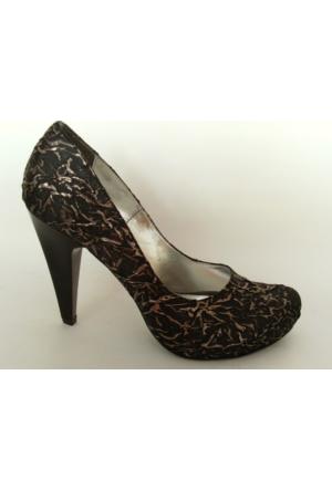 Arıcı Siyah Bakır Bayan Platform Ayakkabı