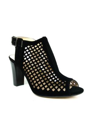 Punto 547565 Siyah Tek Bantlı Bayan Sandalet Ayakkabı