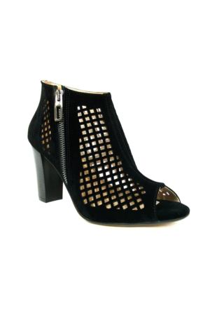 Punto 547566 Siyah Tek Bantlı Bayan Sandalet Ayakkabı