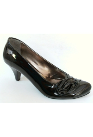 Arıcı Siyah Topuklu Bayan Ayakkabı