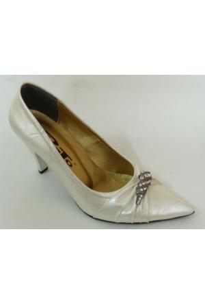 Punto 54205 Kırık Beyaz Stiletto Bayan Ayakkabı