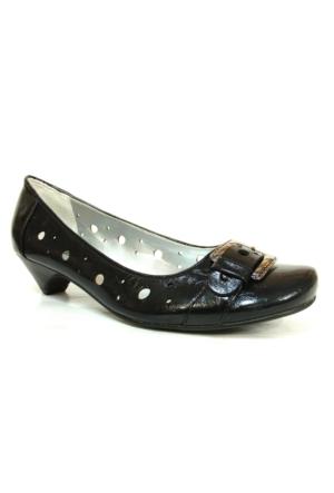 Punto 19607 Siyah Topuklu Bayan Ayakkabı
