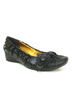 Punto 54508 Siyah Dolgu Topuk Bayan Ayakkabı