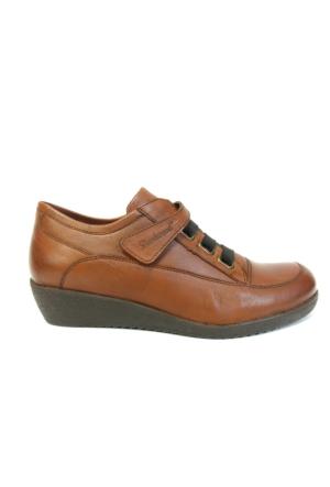Darkwood 3174 Taba Bayan Dolgu Topuk Klasik Ayakkabı