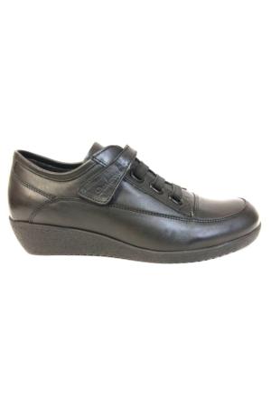 Darkwood 3174 Siyah Bayan Dolgu Topuk Klasik Ayakkabı
