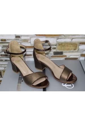 Feminant Bronz Sandalet