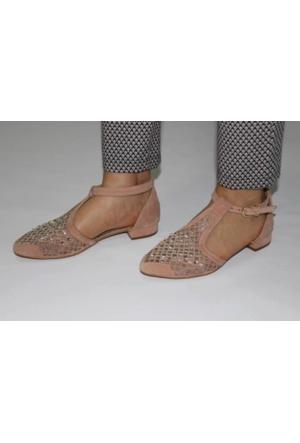 Feminant Pudra Taşlı Ayakkabı