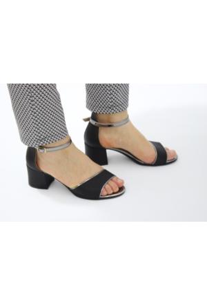 Feminant Siyah Topuklu Sandalet
