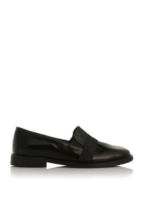 EsMODA Cc-2040 Siyah Deri Kadın Günlük Ayakkabı