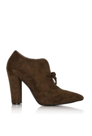 EsMODA Cc-2100 Haki Yeşil Klasik Topuklu Ayakkabı