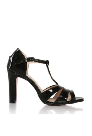 EsMODA Cc-685 Siyah Lavezzi Rugan Klasik Topuklu Ayakkabı