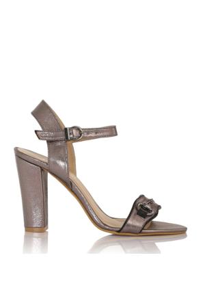 EsMODA Cc-910 Füme Parlak Klasik Topuklu Ayakkabı