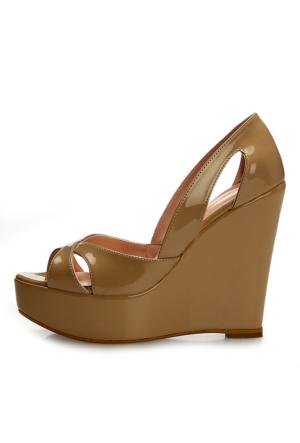 EsMODA Cm-001 Ten Dolgu Topuklu Ayakkabı