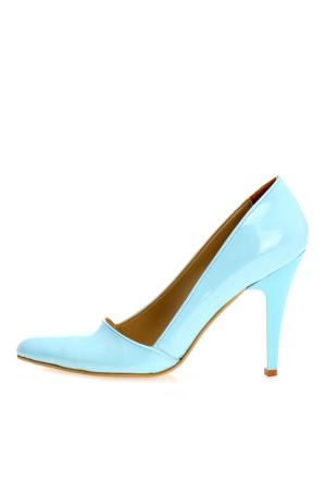 EsMODA Ma-005 Turkuaz Rugan Klasik Topuklu Ayakkabı