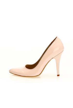 EsMODA Ma-007 Pudra Rugan Klasik Topuklu Ayakkabı