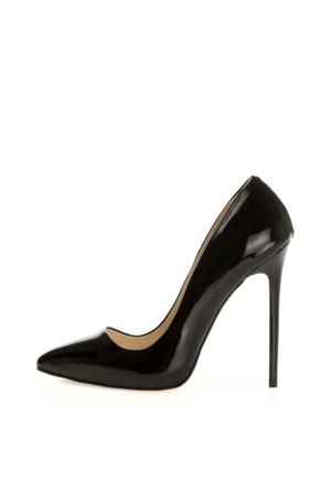 EsMODA Ma-022 Siyah Rugan Klasik Topuklu Stiletto
