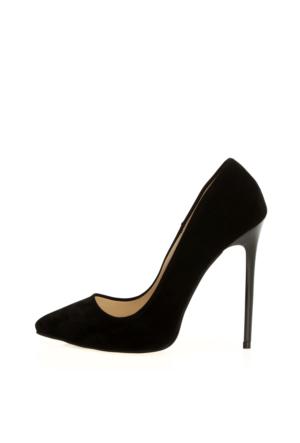 EsMODA Ma-022 Siyah Süet Klasik Topuklu Stiletto