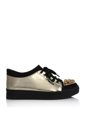 EsMODA Ms-06 Altın Kadın Günlük Ayakkabı