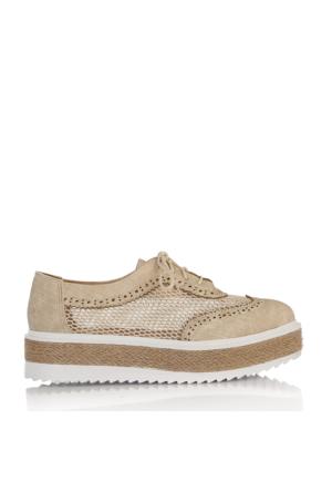 EsMODA Ms-1000 Bej Kadın Günlük Ayakkabı