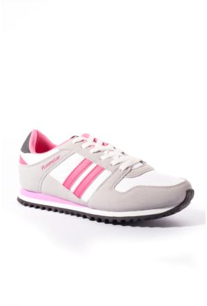 Roomstar Kadın Ayakkabı 201201 Beyaz-Fuşya