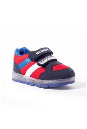 Scooby Bebek Ayakkabı 339-B221 Lacivert-Kırmızı