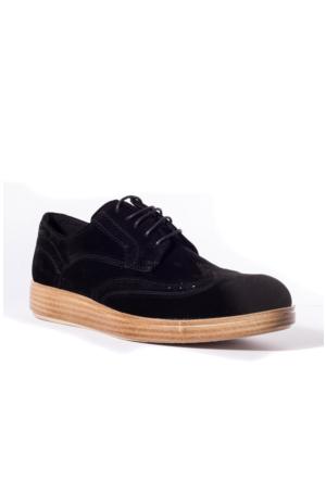 Conteyner Erkek Ayakkabı 619238 Siyah Süet
