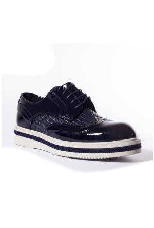 Conteyner Erkek Ayakkabı 803224 Lacivert-Rugan