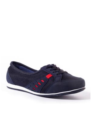 Conpax Kadın Ayakkabı 1080228 Lacivert-Kırmızı