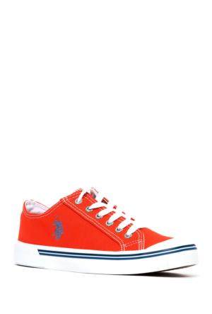 U.S. Polo Assn. Kadın Y7Linen Ayakkabı Kırmızı