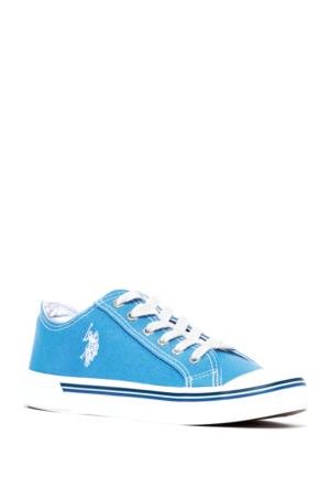 U.S. Polo Assn. Kadın Y7Linen Ayakkabı Mavi